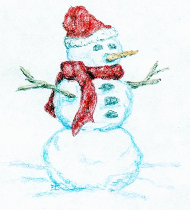 Picture of snowman.